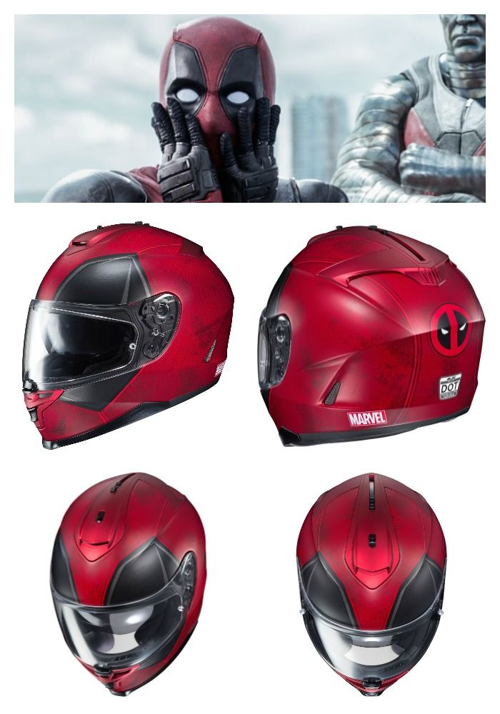 Deadpool HJC IS-17 Motorcycle Helmet