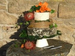 Cheese Wedding Cake or Tower to feed 55-80 (Mixed Cake J)