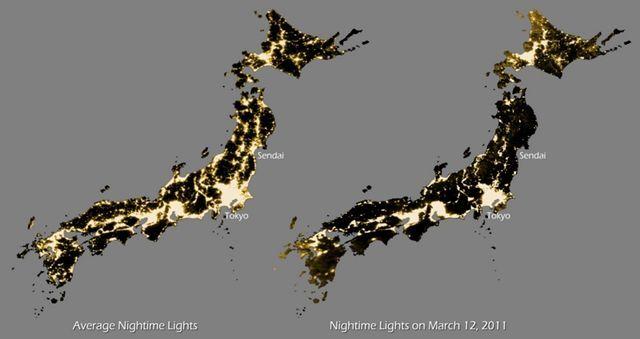 otsune:  アメリカ海洋大気圏局が公開した震災前後の日本の夜間照明(画像) - 涙目で仕事しないSE