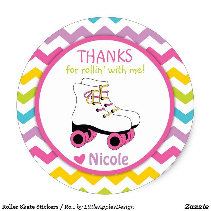 Roller Skate Stickers Roller Skate Favor Tags Clip Art