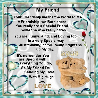 an analysis of my special friends My special friend poem is for that exceptional friend who has been there for you through everything poem may be personalized.