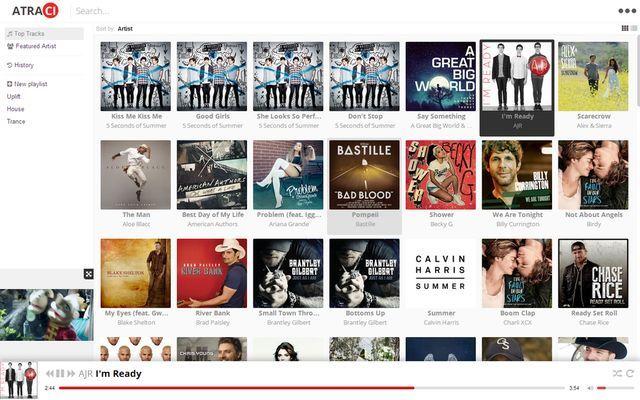 Atraci es un soft gratuito multiplataforma para escuchar música online, su catálogo cuenta con más de 60 millones de canciones. Sin publicidad, ni registro.