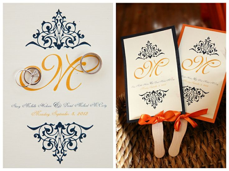 orange and navy wedding invitations - Wedding Invitations Houston