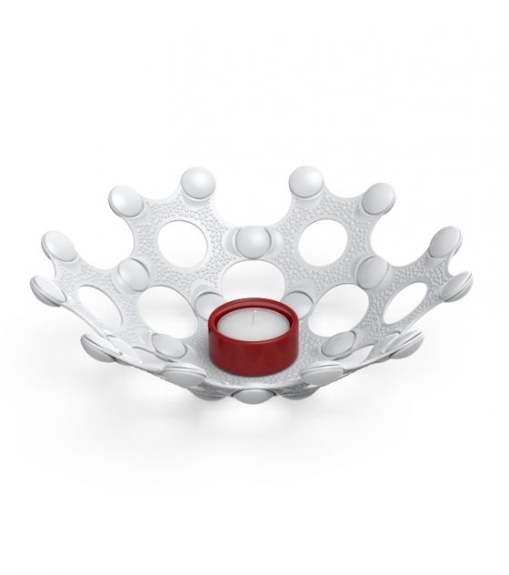 No matter where in the world you are, for us candle light is part of the Christmas spirit. This white and red eco-friendly tea candle holder is great!!