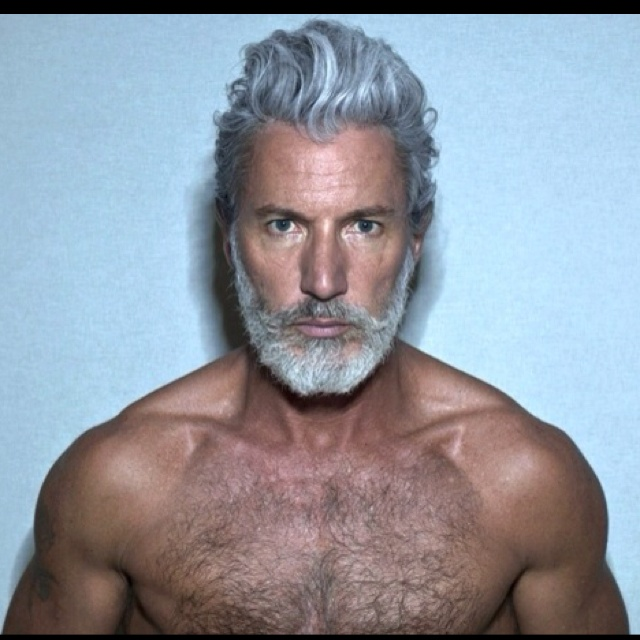 White beard and hair. Dear God Let me look Awesome as I get older