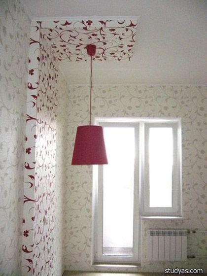 Выступ на потолке и стене