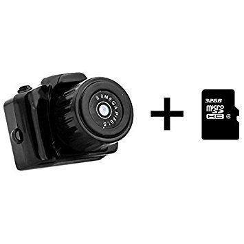 dizauL Super Mini HD720P Caméscope DV numérique Webcam Caméra DVR enregistreur vidéo + Micro SDHC 32Go Carte mémoire