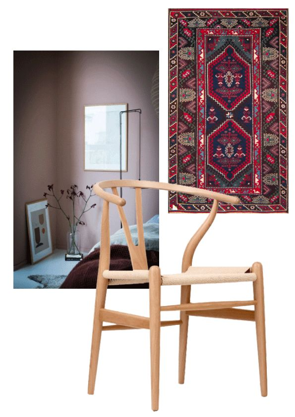 Deco Desires http://gabriellalundgren.com/deco-desires-2 Dreaming of dust pink walls, carpet from Adnan and Hasan and Danish wishbone chairs from Cultfurniture. My deco moodboard right now.