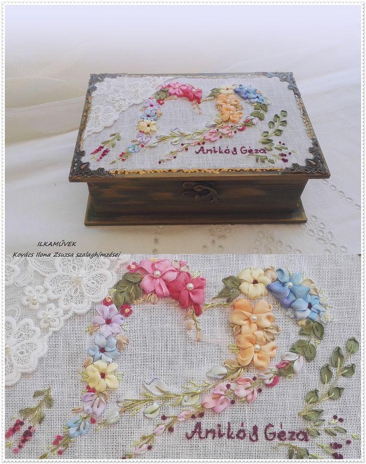 Esküvői doboz, névre szóló