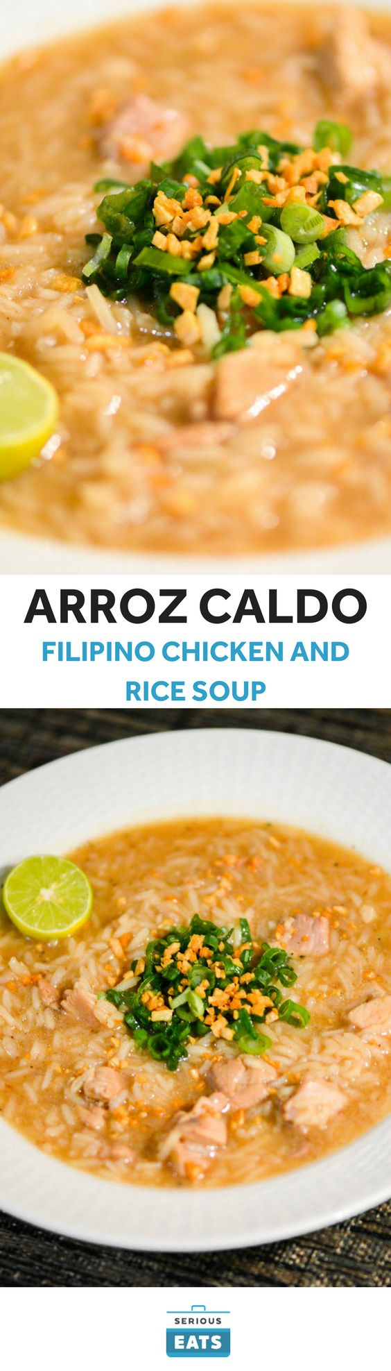 You're probably familiar with Chinese congee, but have you tried arroz caldo, its Filipino cousin? This simple, comforting rice porridge is made with tender chicken thighs and a pungent mix of ginger, garlic, and fish sauce. Don't forget about the fried garlic garnish—crispy and assertive, it's just about the best part of the dish.
