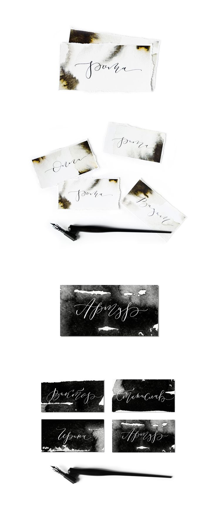 Wedding table cards, copperplate, calligraphy