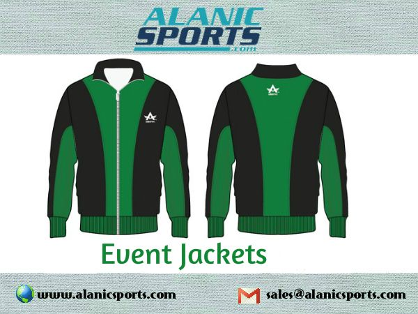 Trust Alanic Sports to provide you high quality event jackets with satisfactory services.