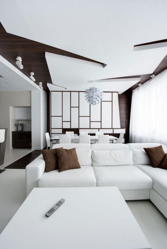 Les 25 meilleures id es concernant faux plafond salon sur for Suspension faux plafond