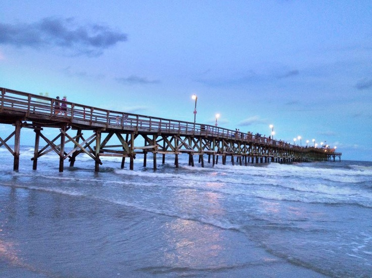 Like and repin if you have ever been on cherry grove for North myrtle beach fishing pier