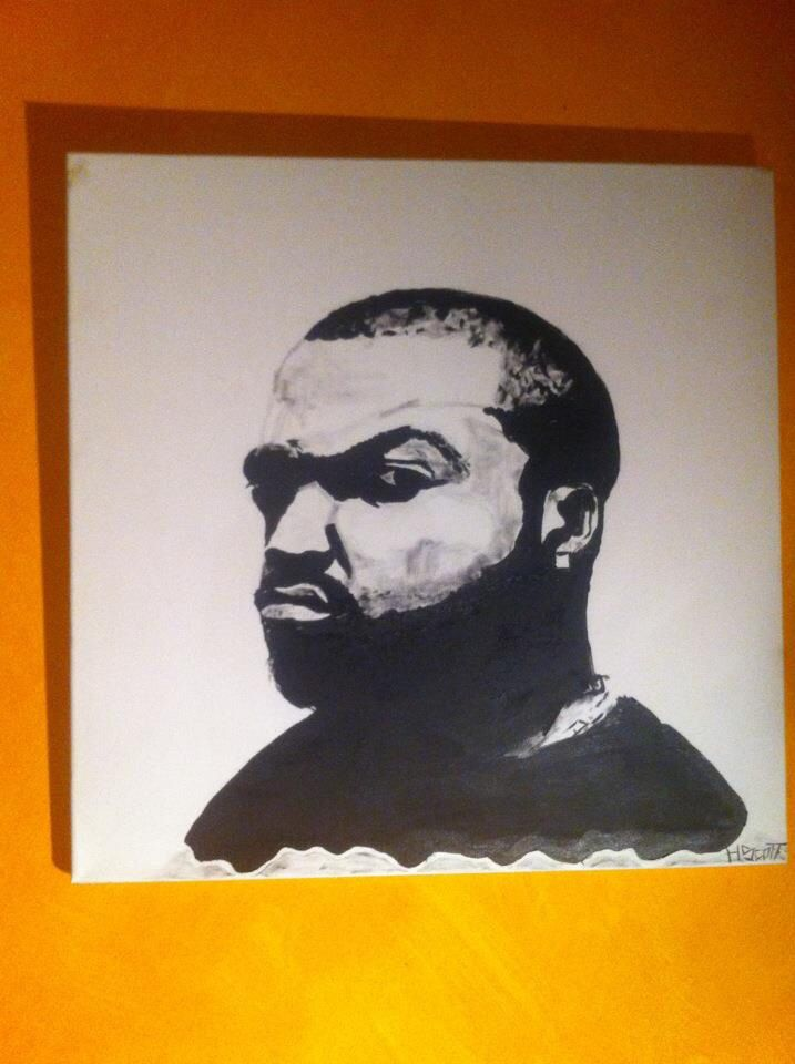 Ice cube portrait