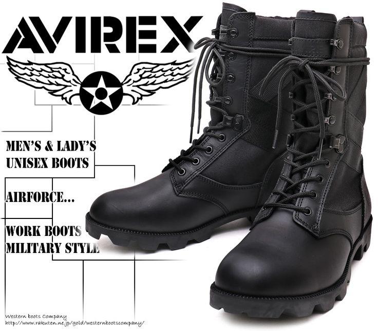ユニセックスモデルの本格ミリタリーブーツ!!。[AVIREX] アヴィレックス(アビレックス) AV-2001 COMBAT コンバットブーツ Black ブラック メンズ&レディース 本革 ミリタリー ショートブーツ サバゲー