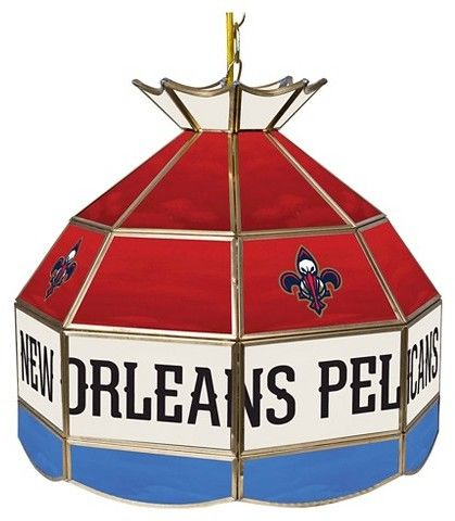 NBA New Orleans Pelicans Tiffany Style Lamp - 16 inch