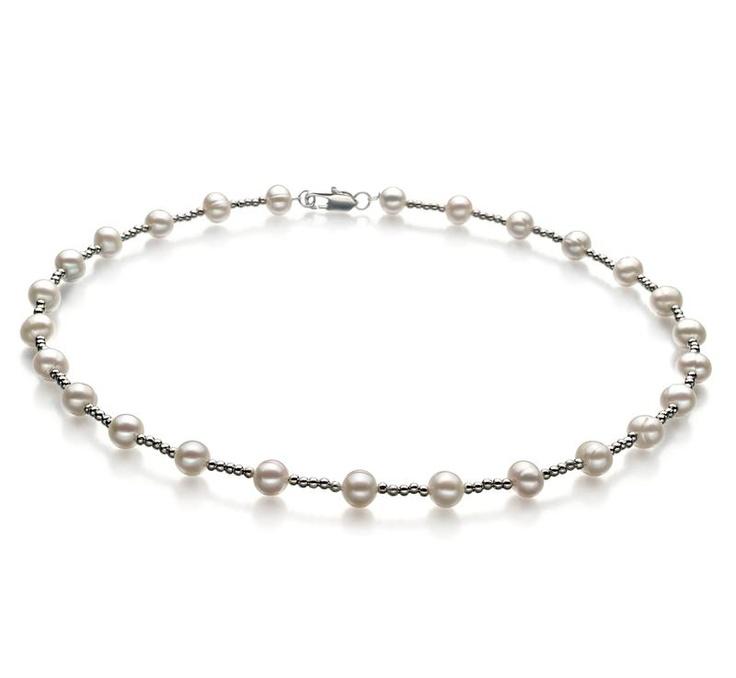 Aurelia Halskette - Weiß A 6-7mm Süßwasser