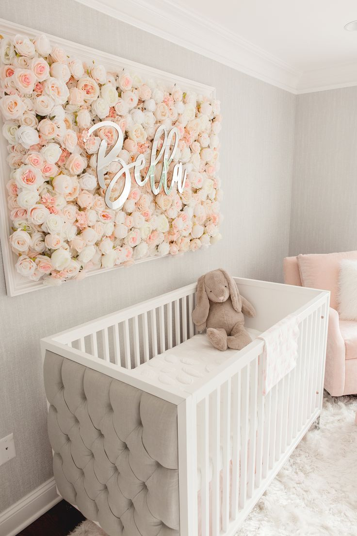 Guess Which Celebrity Nursery Inspired This Gorgeous Space Project Nursery Girl Nursery Room Baby Nursery Inspiration Baby Girl Nursery Room