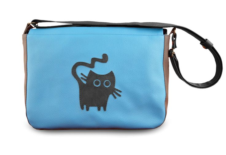 Bag for cat ladies, handmade handbag! purse for cat ladies handmade of faux leather; cute cat and cats paws by YapokBags on Etsy