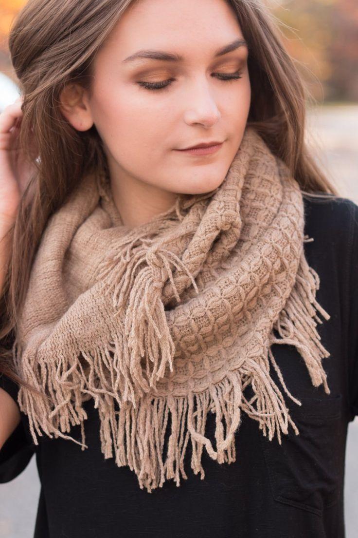 So Perfect Fringe Infinity Scarf Fringe scarf, Fashion