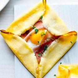 Ham & Egg Crepe Squares