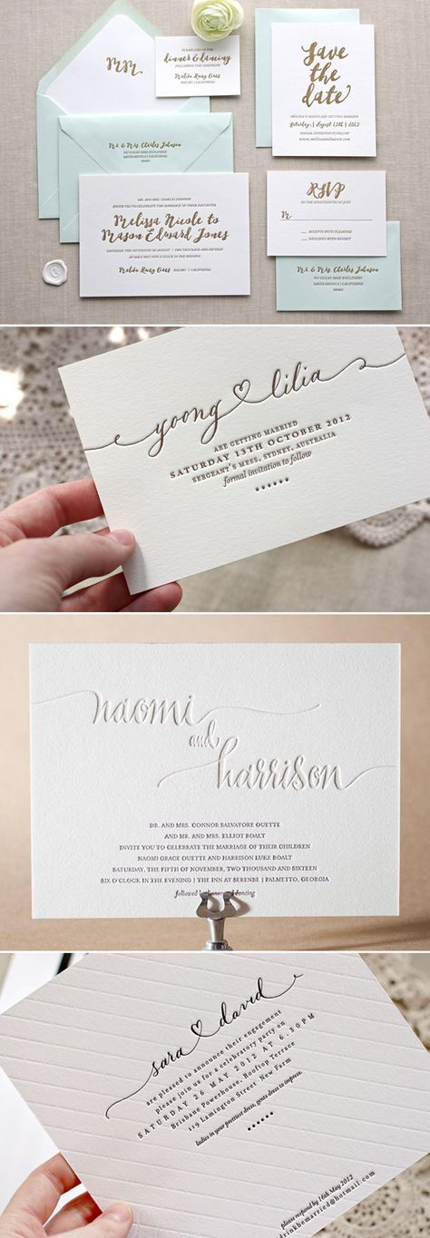 Letterpress wedding invitations - Deer Pearl Flowers / www.deerpearlflow...