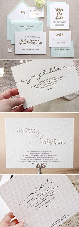Letterpress wedding invitations - Deer Pearl Flowers / www.deerpearlflow...