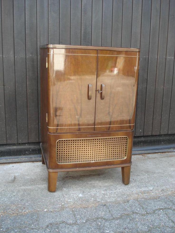 Philips Phonoschrank alt ca. 50er Jahre Radioschrank Kommode Schrank Holz Funier