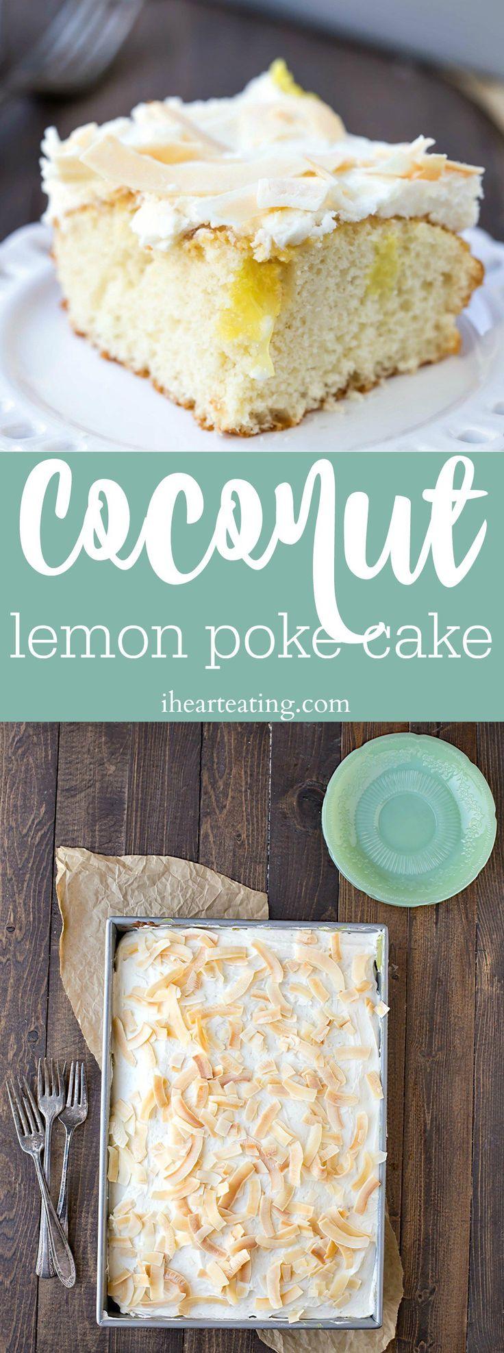 Coconut Lemon Poke Cake