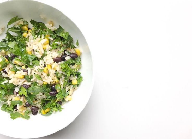 Vegetarian rice and veggie dish with lots of herbs!
