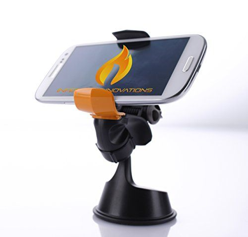 """#1 Best Phone Mount ★ Dash Grab Universal Phone Mount ★ Revolutionary One Hand Mounting System ★ High Quality Gel Suction Cup Cell Phone Holder For Car ★ 360° Rotation & Swivel ★ Compatible With iPhone 5s/5c/4s, Samsung S5/S4/S3, HTC One, Nexus 5, Sony Xperia, Moto X, Nokia Lumia & More ★ GPS Holder ★ Expands Up To 4"""" ★ Cell Phone Holder For Car, Office, Kitchen ★ NO RISK 1 Year Warranty Infernal Innovations ..."""