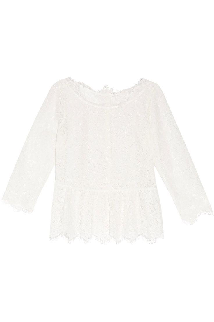JOIE Koda Gathered Corded Lace Peplum Top. #joie #cloth #top