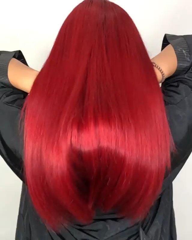 Shiny Extreme Red Hair Professional Hair Salon Red Hair Hair