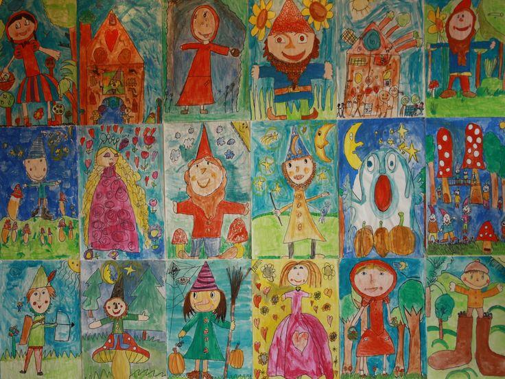 """Tekeningen gemaakt voor het schoolfeest thema : """"sprookjes"""""""
