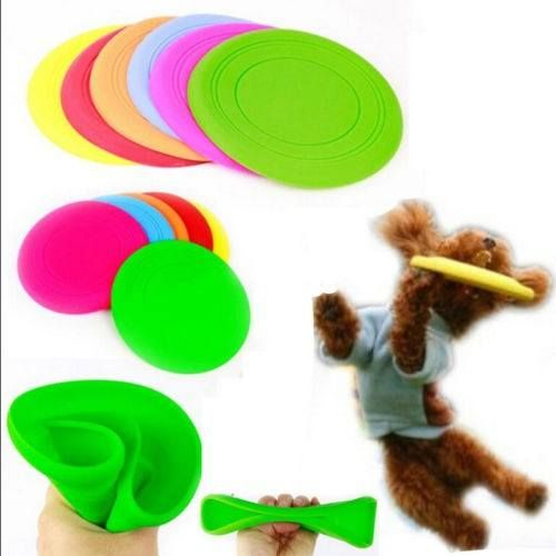 Large Pet Dog Flying Disc Tooth Resistant Training Fetch Toy Play Frisbee : The scientists said that dog is like a kid they want to play all the time.