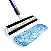 """Kitchen + Home - Professional Microfiber Mop Floor Dust Mop with 17"""" Washable Reusable Dry Microfiber Mop Pad"""