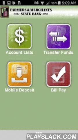 FMSB Iowa Mobile Banking  Android App - playslack.com ,  Farmers & Merchants State Bank (FMSB) Mobile Banking is like having a banker in your pocket. Anywhere your mobile device operates, view your account balances and recent account activity, transfer funds between accounts, view cleared checks, make a loan payment, and even remotely deposit checks. We're the small town bank with the big town technology.Keywords: Neola, Farmers & Merchants State Bank