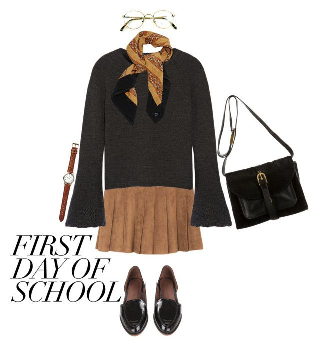 """""""Campus Chic: First Day of School"""" by weird-betty on Polyvore featuring CO, Proenza Schouler, Julie Fagerholt, Rachel Comey and BackToSchool"""