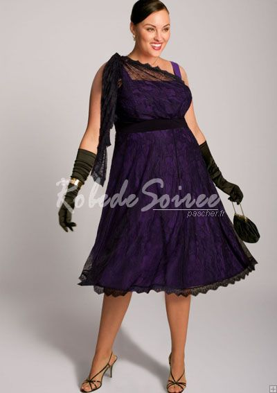 Robe de soiree cocktail grande taille