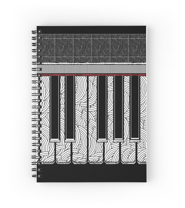 Piano Keys Rhythm Deco Swing  by CecelyBloom (Spiral Notebook Journal) songwriters lyrics journal