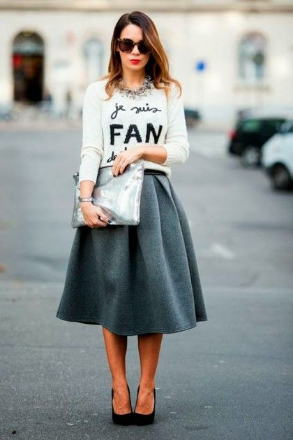6 easy ways to style a midi skirt!