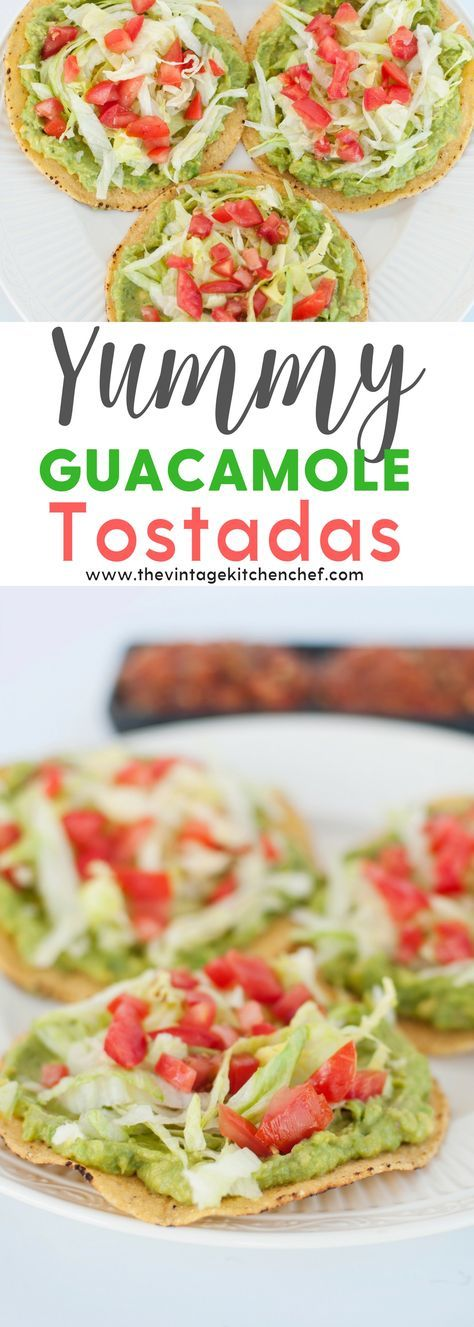 Yummy Guacamole Tostadas are not only healthy, fresh and delicious but they are also incredibly easy to make! A great vegetarian and gluten free meal.