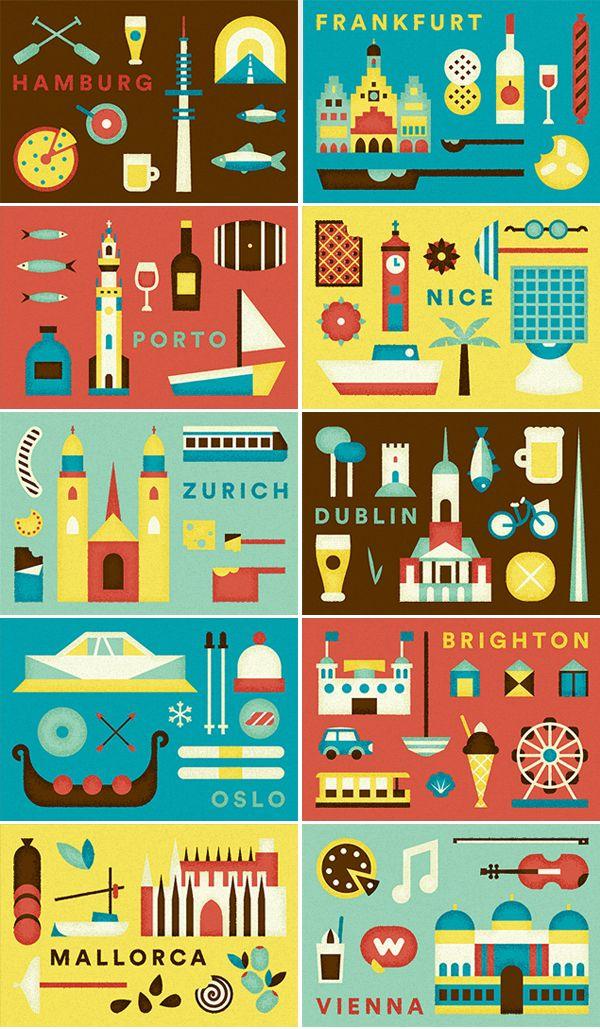 airbnb europe illustrations Airbnb European city illustrations