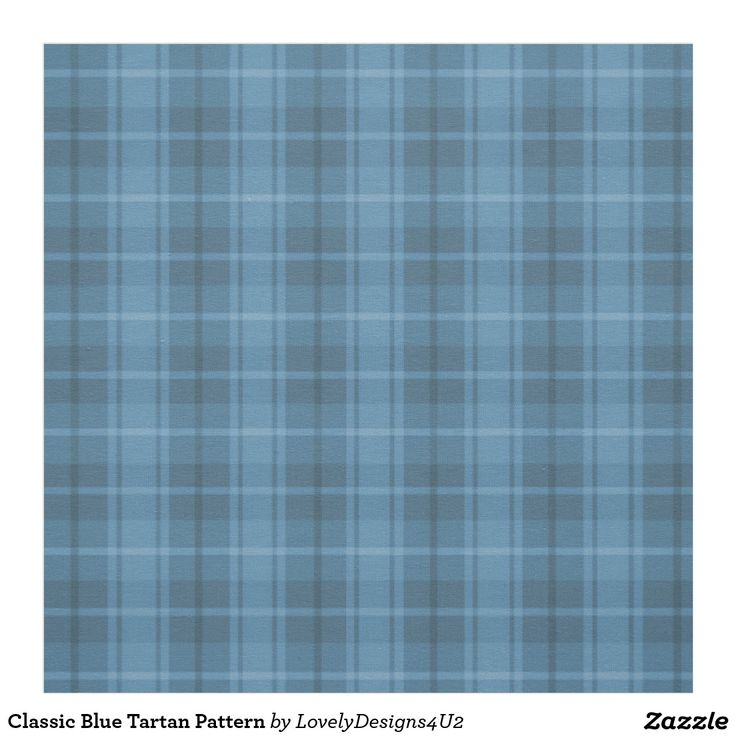 Classic Blue Tartan Pattern Fabric