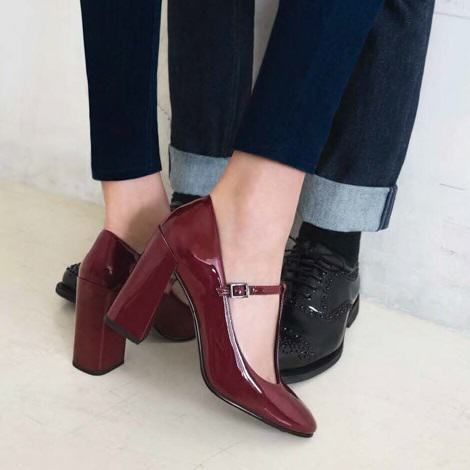 327c73539f2 chaussures salome rouge vernis