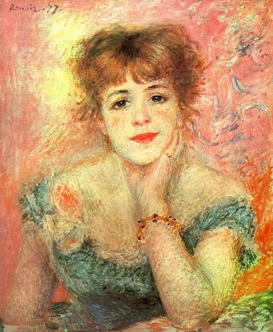 르누아르 - 사마리 부인의 초상 이 그림의 모델은 당시 파리에서 인기 절정에 있었던 유명한 배우이다. 그녀는 매우 쾌활한 성격의 소유자로 알려져 있었으며 발랄하고 지적매력이 넘치는 여인이었다고 한다.이에 매혹된 르누아르는 그녀의 전신상도 그릴만큼 열정을 보였다. 그림들에서 볼 수 있듯이 르누아르 만큼 여성을 따뜻하고 아름답게 그리는 화가가 없는 것 같다. 그의 이젤앞에 앉아있으면 그 어떤여성도 예쁘게 그려질 것 같다는 생각을 해본다.