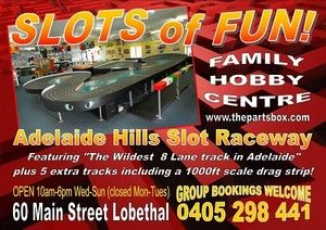 Adelaide Hills Slot Raceway, Hobby Shops, Lobethal, SA, 5241