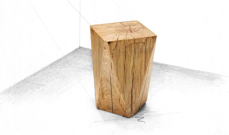 Holzhocker Diamond