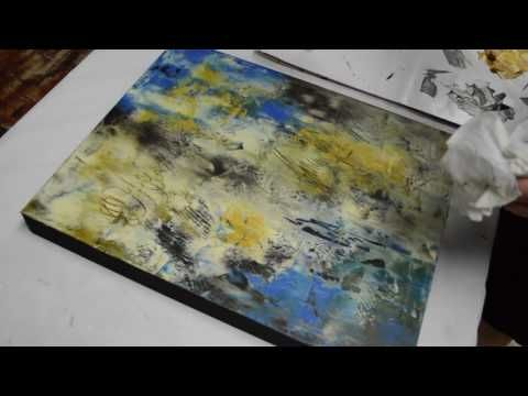 Oil Paint and Cold Wax Painting Demonstration by Kim Sobat - YouTube